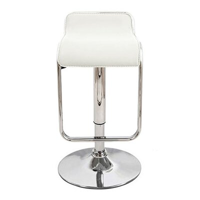 Omega Adjustable Height Swivel Bar Stool Upholstery: White