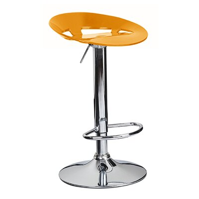 Manhattan Adjustable Height Swivel Bar Stool Finish: Orange