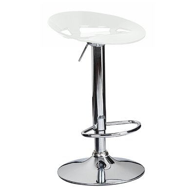 Manhattan Adjustable Height Swivel Bar Stool Finish: White
