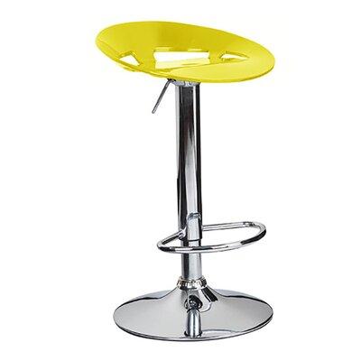 Manhattan Adjustable Height Swivel Bar Stool Finish: Yellow