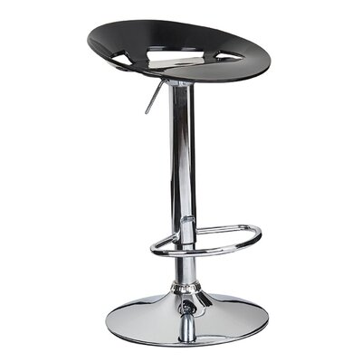 Manhattan Adjustable Height Swivel Bar Stool Finish: Black