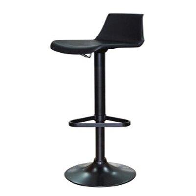 Tiglion Adjustable Height Swivel Bar Stool Upholstery: Black
