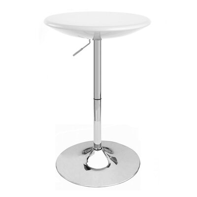 Alpha Adjustable Height Pub Table Color: White