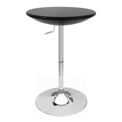 Alpha Adjustable Height Pub Table Color: Black
