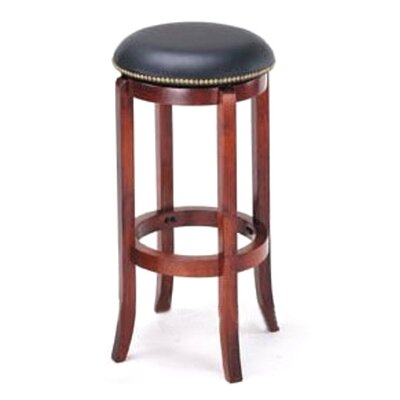Manchester 29 inch Bar Stool Upholstery: Black