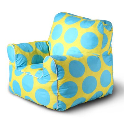 Sol Bean Bag Chair Upholstery: Yellow/Blue