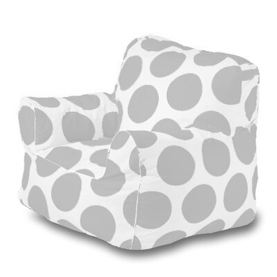 Sol Bean Bag Chair Upholstery: Silver/White