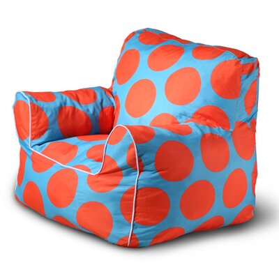 Sol Bean Bag Chair Upholstery: Blue/Orange