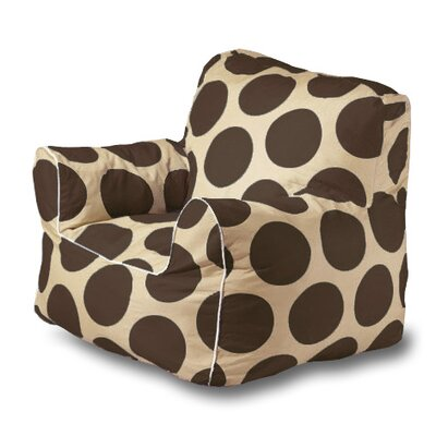 Sol Bean Bag Chair Upholstery: Brown/Cream