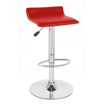 Sigma Adjustable Height Swivel Bar Stool Upholstery: Red
