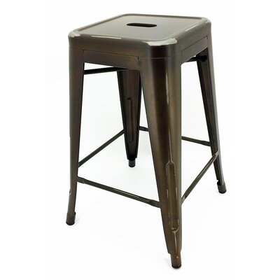 Ajax 24 inch Bar Stool Finish: Copper