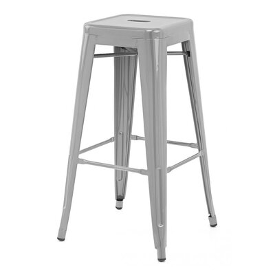 Ajax 30 Bar Stool Finish: Matte Silver