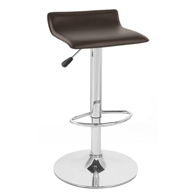 Sigma Adjustable Height Swivel Bar Stool Upholstery: Brown