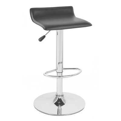 Sigma Adjustable Height Swivel Bar Stool Upholstery: Black SIGMAPVC-BLACK