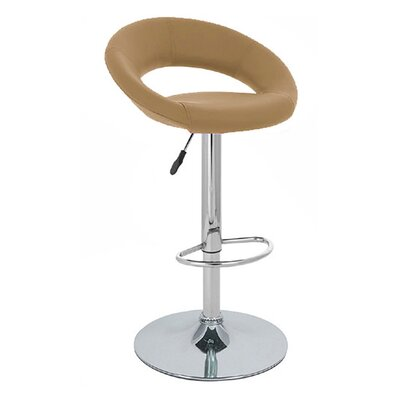 Rho Adjustable Height Swivel Bar Stool Upholstery: Merlot
