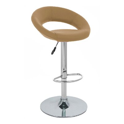 Rho Adjustable Height Swivel Bar Stool Upholstery: Toffee