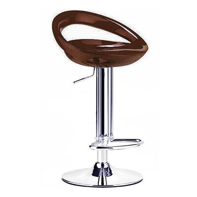 Rho Adjustable Height Swivel Bar Stool Finish: Caramel