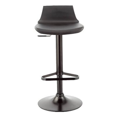 Tiglion Adjustable Height Swivel Bar Stool Finish: Black