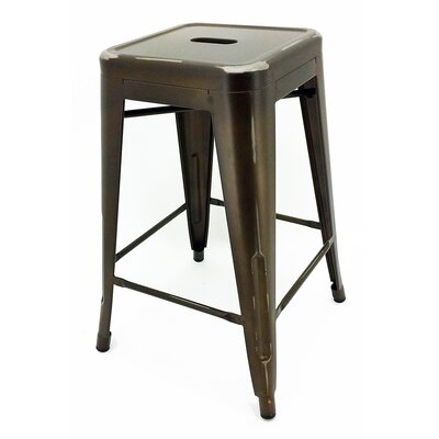 Ajax 24 Bar Stool Finish: Copper