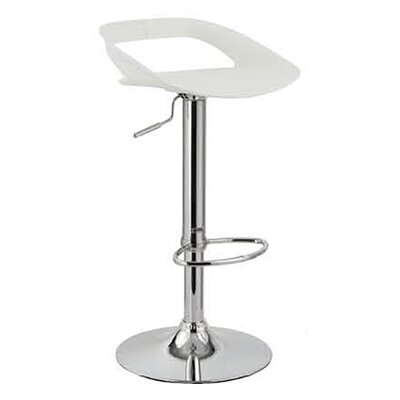 Chi Adjustable Height Swivel Bar Stool Finish: White