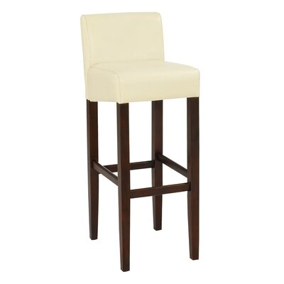 Brooklyn 30 Bar Stool Upholstery: Cream