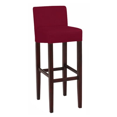 Brooklyn 30 Bar Stool Upholstery: Red