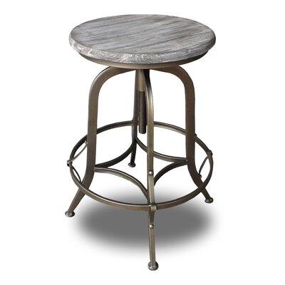 Chester Adjustable Height Swivel Bar Stool Finish: Copper