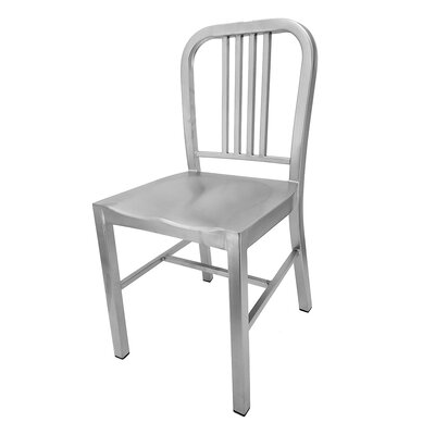 Retro Side Chair Finish: Matte Silver