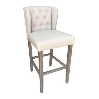 Octavius Contemporary 29.5 Bar Stool Upholstery: Beige