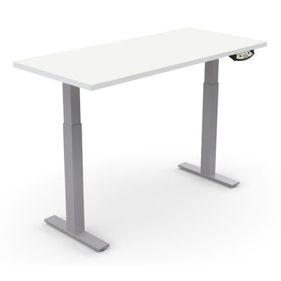 Sustainable Furniture Ergonomic Height Adjustable Table Size: 45.7 H x 72 W x 24 D