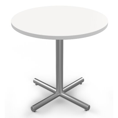 Round Sustainable Furniture Multi-Use Laminate Table Size: 30 H x 42 W x 42 D, Top Finish: White