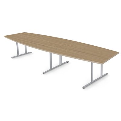 Boat Shape Conference Table Size: 30 H x 48 W x 96 D