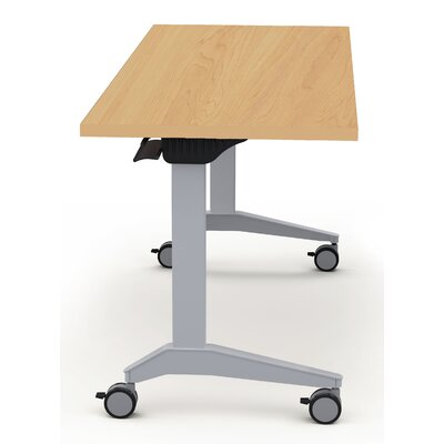 Sustainable Furniture Height Adjustable Training Table with Wheels Size: 30 H x 60 W x 30 D