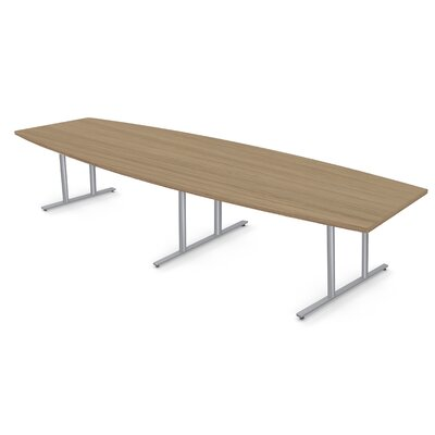 Boat Shape Conference Table Size: 30 H x 54 W x 144 D