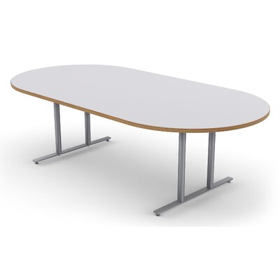 Oval Conference Table Size: 30 H x 48 W x 144 D