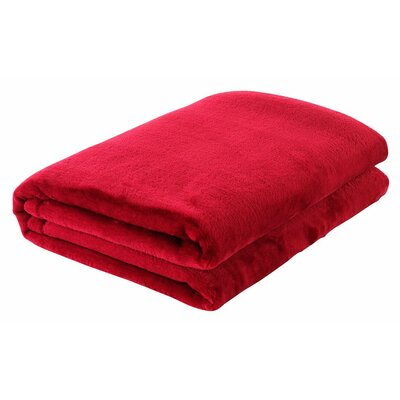 Silky Touch Velvet Plush Throw Blanket Color: Red