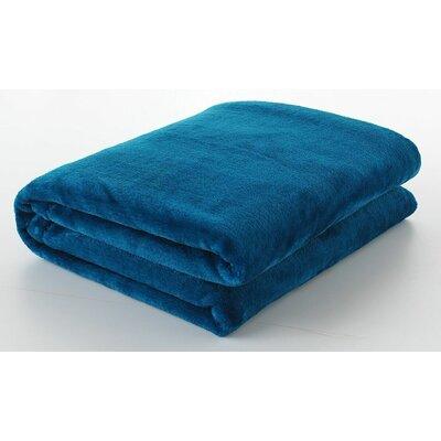 Silky Touch Velvet Plush Throw Blanket Color: Blue