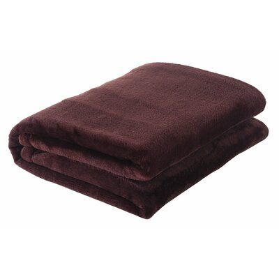 Silky Touch Velvet Plush Throw Blanket Color: Chocolate