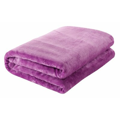 Silky Touch Velvet Plush Throw Blanket Color: Lavender
