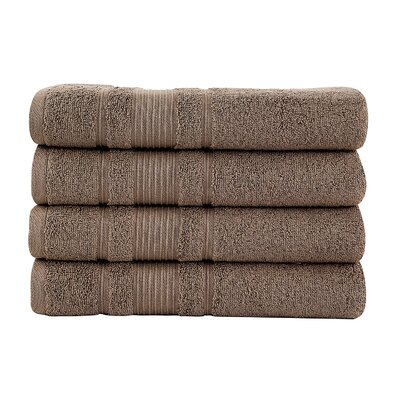 Solomon Luxury Bath Towel Color: Brown