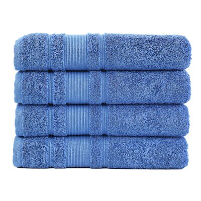 Solomon Luxury Bath Towel Color: Blue