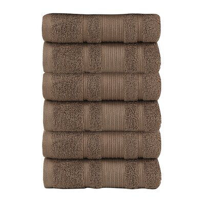 Solomon Luxury Hand Towel Color: Brown