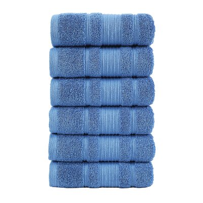 Solomon Luxury Hand Towel Color: Blue