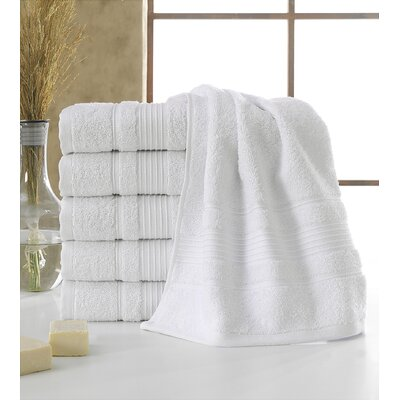 Yorkshire Hand Towel Color: White