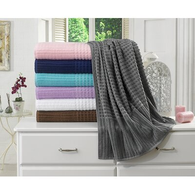 Piano Bath Towel Color: Gray