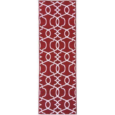 Rose Red Area Rug Rug Size: 33 x 47