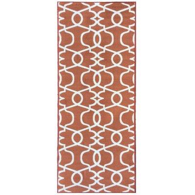 Rose Orange Area Rug Rug Size: Runner 23 x 7
