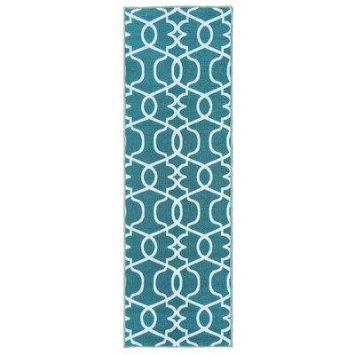 Rose Blue Area Rug Rug Size: 5 x 66