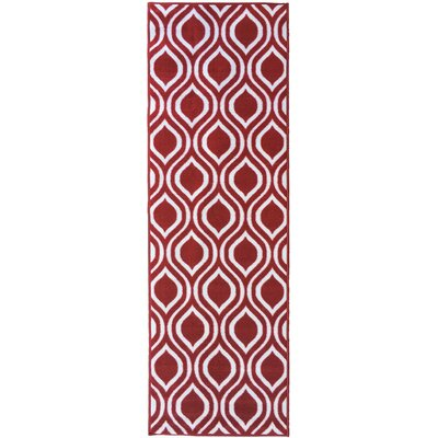 Rose Red Area Rug Rug Size: 5 x 66