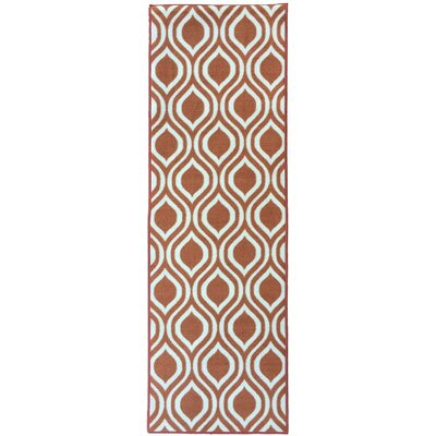 Rose Orange Area Rug Rug Size: Runner 23 x 7